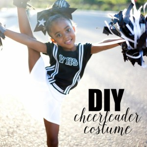Simple DIY Cheerleader Costume