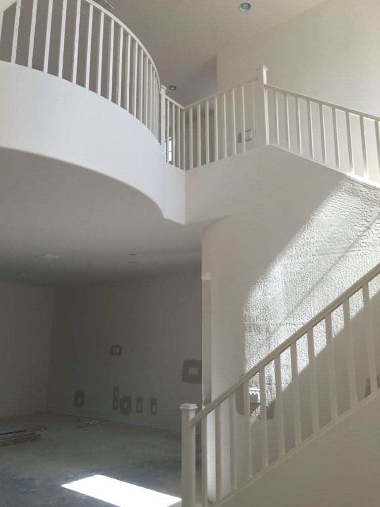 The Best Way To Paint Your Stair Rails Black Just Destiny | Black Banister White Spindles | Black Railing | Wainscoting | White Painted Riser | Benjamin Moore Stair Railing | Baluster Curved Stylish Overview Stair