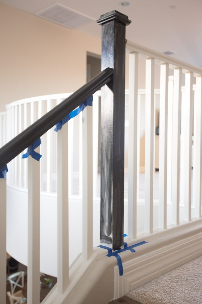 The Best Way To Paint Your Stair Rails Black Just Destiny   Painted Handrails For Stairs   Modern   German Style   House   Pressure Treated   Before And After
