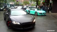 A couple of custom Audi R8s