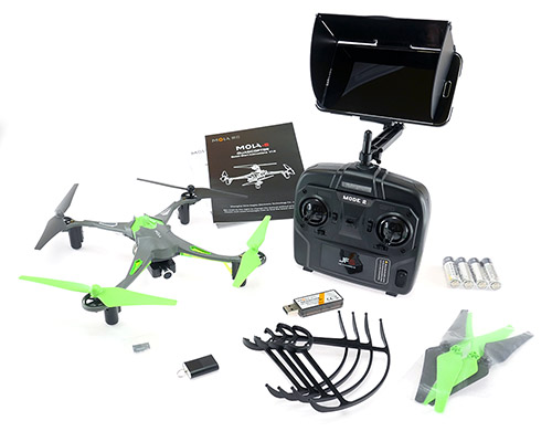 Mola-5 Quadcopter with 720p HD Camera - In The Box