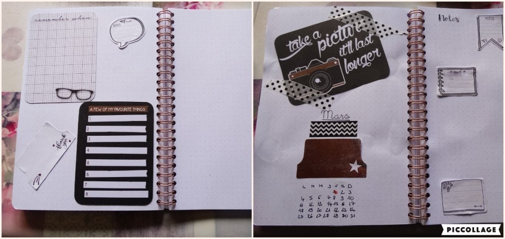 Bullet Journal : Set-up de Mars