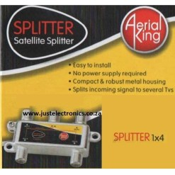 Aerial King 4 Way DC Pass F Splitter