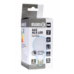 Ellies 5W A60 E27 ALS LED Bulb With Automatic Day Night Sensing FLALSE27C