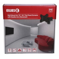 Ellies Double Arm Swivel TV Wall Bracket 15 to 56 Inch BAMLADF