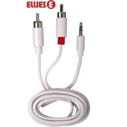 Ellies Stereo Cable 3.5mm Jack Plug to 2 RCA