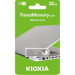 Kioxia U401 Metal TransMemory 32GB USB2.0 Flash Drive LU401S032GG4