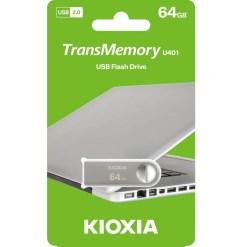 Kioxia U401 Metal TransMemory 64GB USB2.0 Flash Drive LU401S064GG4