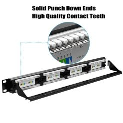 Patch Panel Cat5e 24 Port Punch Down Ends