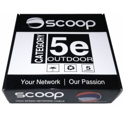 Scoop Cat5e Outdoor 100M FTP CCA Network Cable