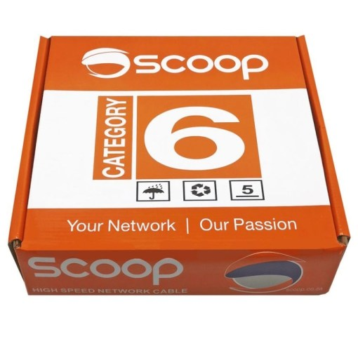 Scoop Cat6 High Speed 100M UTP CCA Network Cable