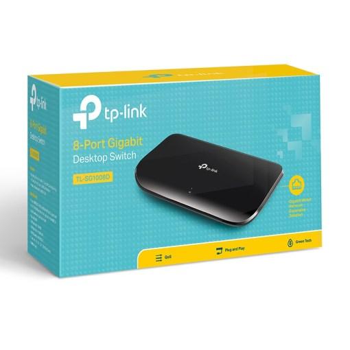 TP-Link 8 Port Gigabit Desktop Ethernet Switch Retail Box