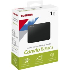 Toshiba 1TB Canvio Basics 2.5 Inch USB3.0 Portable External Hard Drive