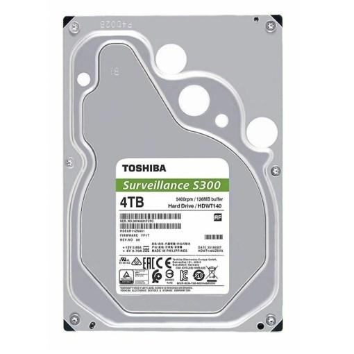 Toshiba S300 4TB 3.5inch Surveillance Hard Drive HDWT140