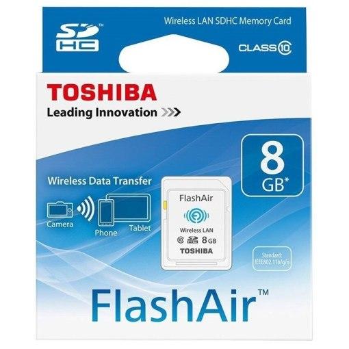 Toshiba FlashAir 8GB W-03 Wireless SDHC Memory Card SD