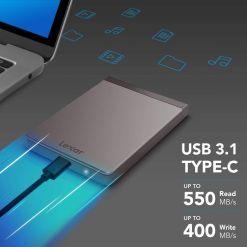 Lexar 1TB Portable SSD Upto 550mbs Read Speed