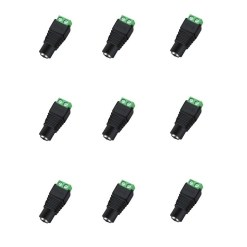 12V DC Female Power Connector For CCTV Camera Pack of 10