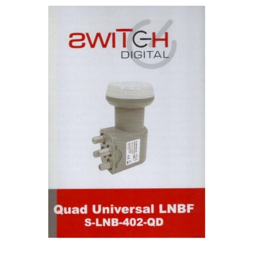 Switch Digital Quad Universal LNB S-LNB-402-QD