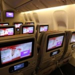The world's largest in-flight screens