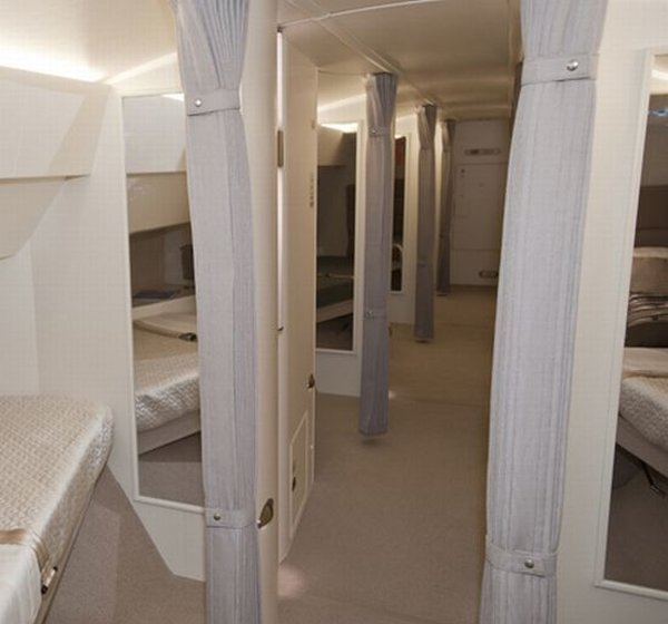 Sleeping Area for VIP Flying Experience
