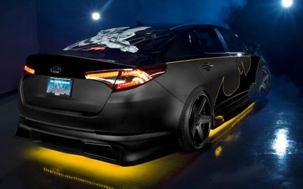 Batmobile Kia Optima to fight hunger