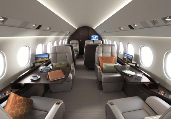 Dassault Falcon 2000LXS cabin