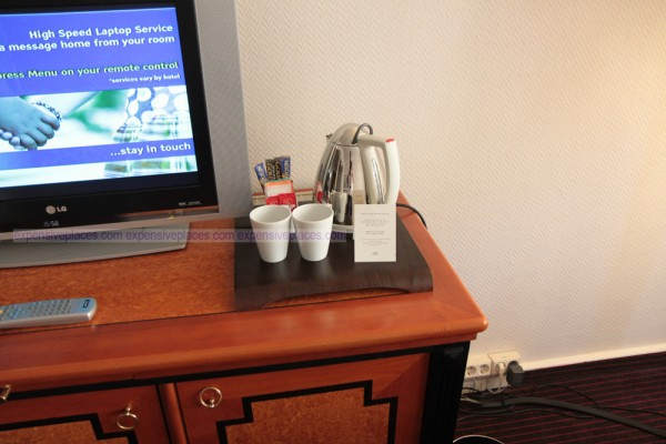 Sofitel Budapest Chain Bridge room coffee