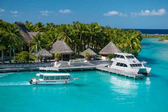 bora-bora hotel on water