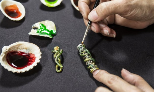 Montegrappa hand-painting Snake pen
