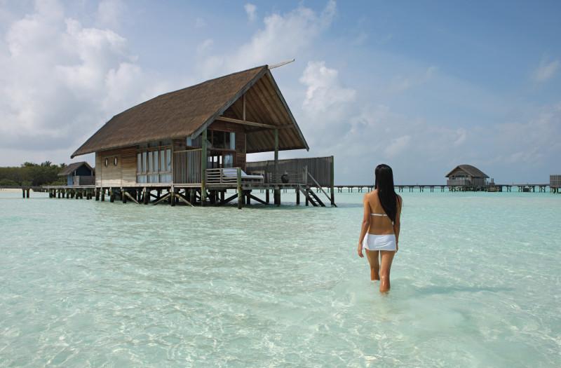 Maldives beautiful water crystal