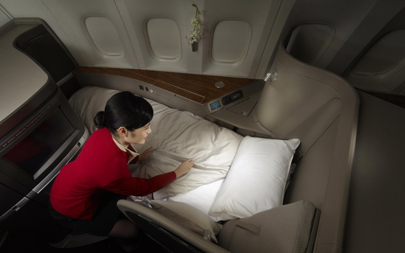 Hong Kong airline Cathay Pacific first class seats