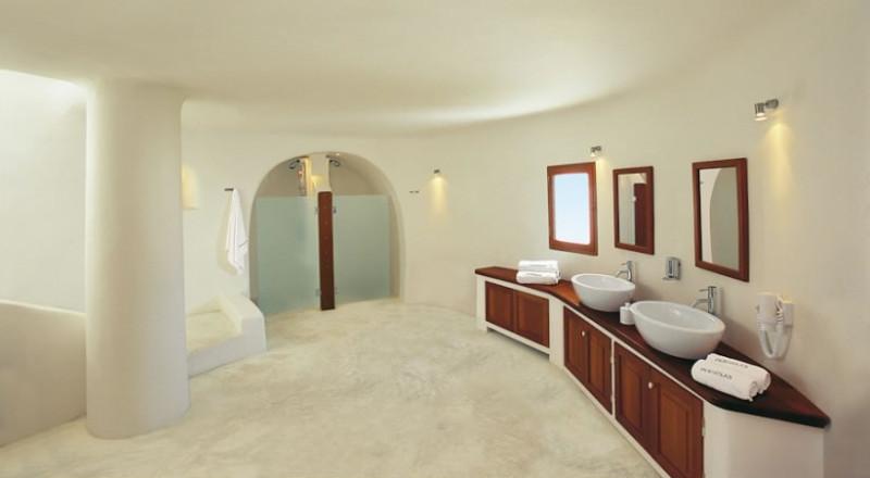 santorini oia Perivolas inside bedroom