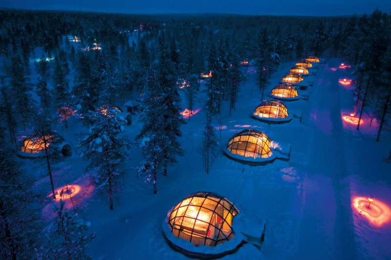 Igloo Village Kakslauttanen Glass igloo