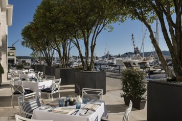 Regent Porto Montenegro Dining Room outside garden