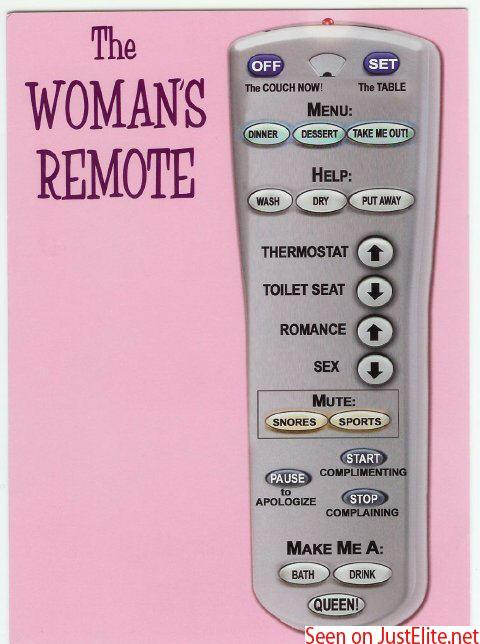 Men remote control