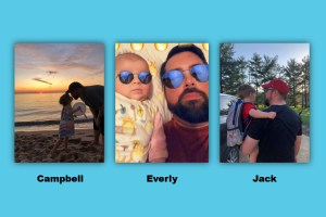 Just Enduring Co-founder Nick McGeehon with his children: Campbell, Everly and Jack