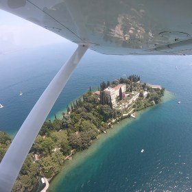 Welcome to Garda Island, view from plane