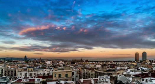 Pink Clouds Over Barcelona