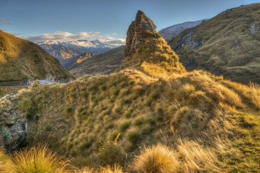 For some reason I never got around to posting this photo from New Zealand over a year ago. This was taken on a crazy narrow road with switchbacks above vertical drops into a canyon. It's one of the most dangerous roads in the world, and even walking can be a little harrowing if you're not paying attention. Case in point, I walked off the road on to this little trail to the right and at the far end slipped on some grass with vertical drops either side. I simply fell on my butt rather than down the cliff so I guess my number wasn't up yet. There was also a mountain bike trail running down the opposite mountainside. It looked pretty extreme from our vantage on this side of the canyon. But given my track record on this trail I'm probably better off walking than riding a bike, then again maybe not.
