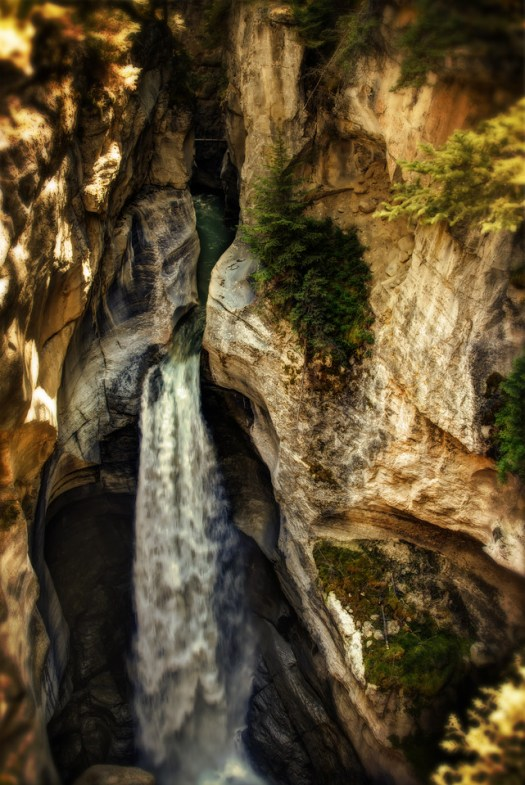Maligne Canyon in Jasper National Park, Alberta. The Canyon was formed by the collapse of the ground above an underground river, rather that typical erosion. The resulting landscape formations are nothing short of spectacular.