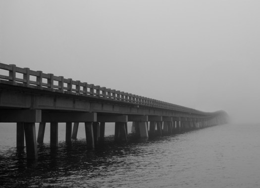 Manatee Avenue Bridge on a foggy morning. It struck me that the bridge could be a metaphor for uncertainty. From time to time I feel like I'm crossing a chasm and there is no guarantee of success or what's on the other side. It can be unsettling. But in the end I generally make it and end up a little stronger and a little wiser.