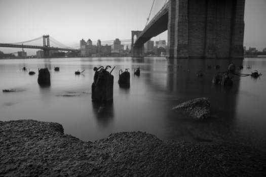 This is taken from the banks of the East River on the Manhattan side of the Brooklyn Bridge. A group of us from the Arcanum showed up before dawn to capture the sunrise but there were plenty of other subjects at hand as well. These old concrete pilings are probably leftover from some pier or docks in ages past. How cool would it be to travel back in time and see what was here a century ago. Until that time it will just have to be a part of my imagination and the help of a photo or two.