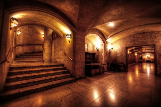 The Banff Springs Hotel in Banff Alberta is designed after a Scottish Castle. One day I walked through the maze of hallways trying to figure out how to get from one wing to the other when I happened upon this hallway. I could easily imagine myself transported back in time.