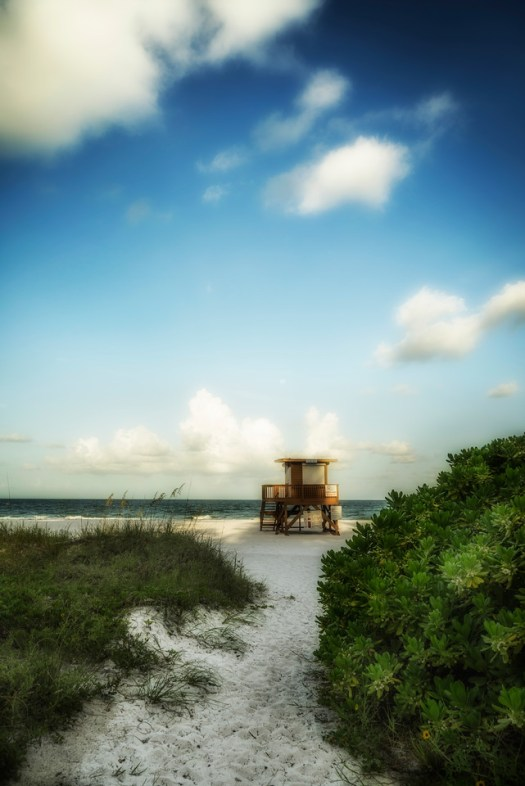 Here's a lifeguard stand on Anna Maria Island in the town of Bradenton Beach. It was only a few months ago that I took this and my how time flies, it's now the holiday season. I think when I took this I didn't give it much thought, ho hum, another beach shot. As I write this I'm up north in the cold and now it looks really good, as in I can't wait to get home. That inside joke about white sand up here, I get it. Time to trade my boots for a pair of sandals and reacquaint my feet with the real thing.