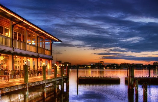 The Riverhouse Reef and Grill is a local eatery in Palmetto Florida that sits right on the Manatee River. Every time I come here it's crowded, but somehow we always get a table with a good view. It's not uncommon to be sitting here and have our conversation broken by something passing us by along the river, be it dolphin, manatee or just a family on a sailboat. Its way out at the end of a pier and so they pick you up with one of those golf cart shuttles if you don't feel like walking the length. All in all, a pretty good deal.