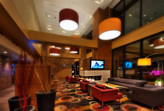 This is the lobby of the Residence Inn in Vancouver. I only stayed here once but my first impression was that