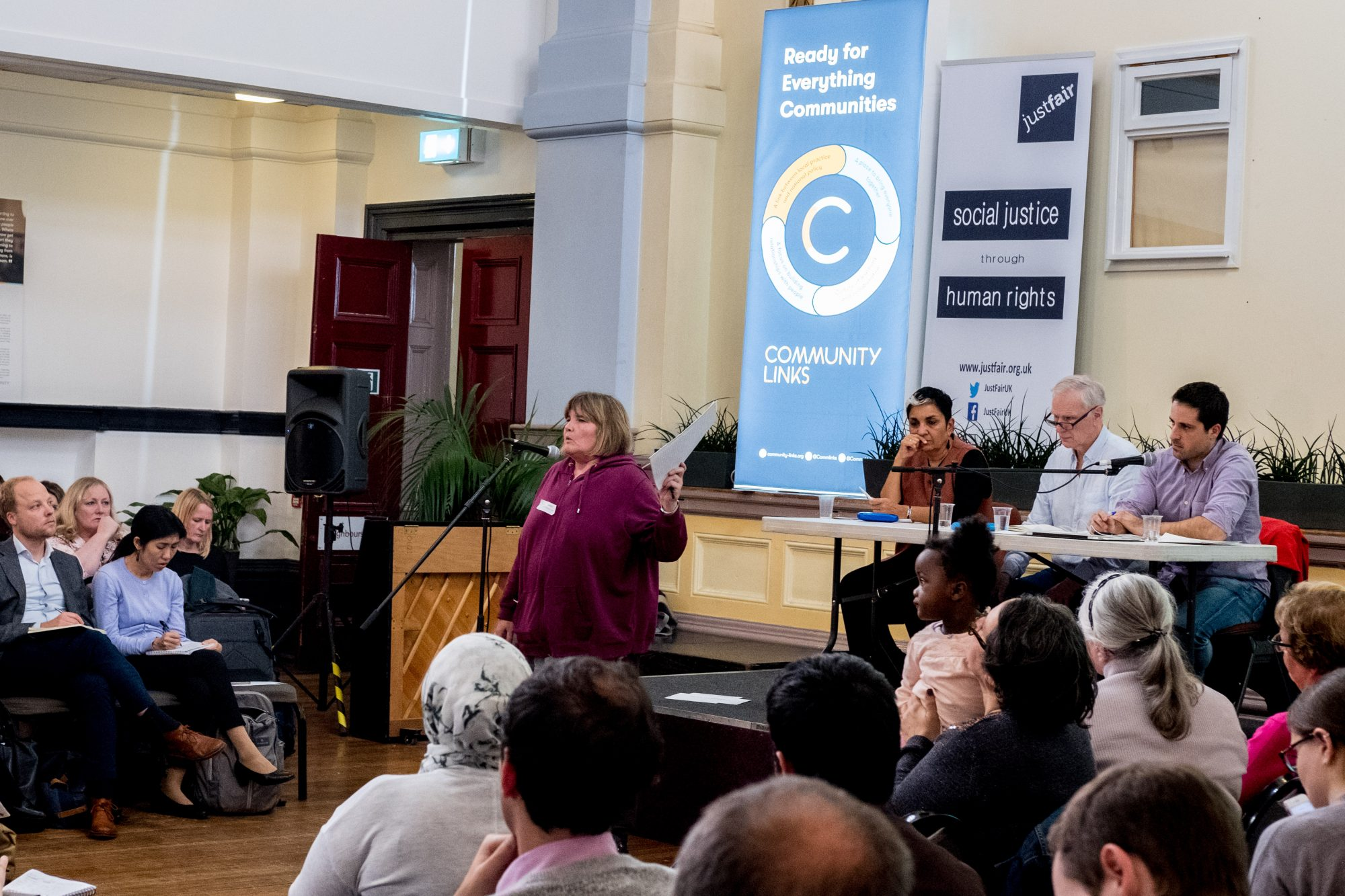 The Special Rapporteur hears from people affected by poverty in Newham – C Bassam Khawaja 2018