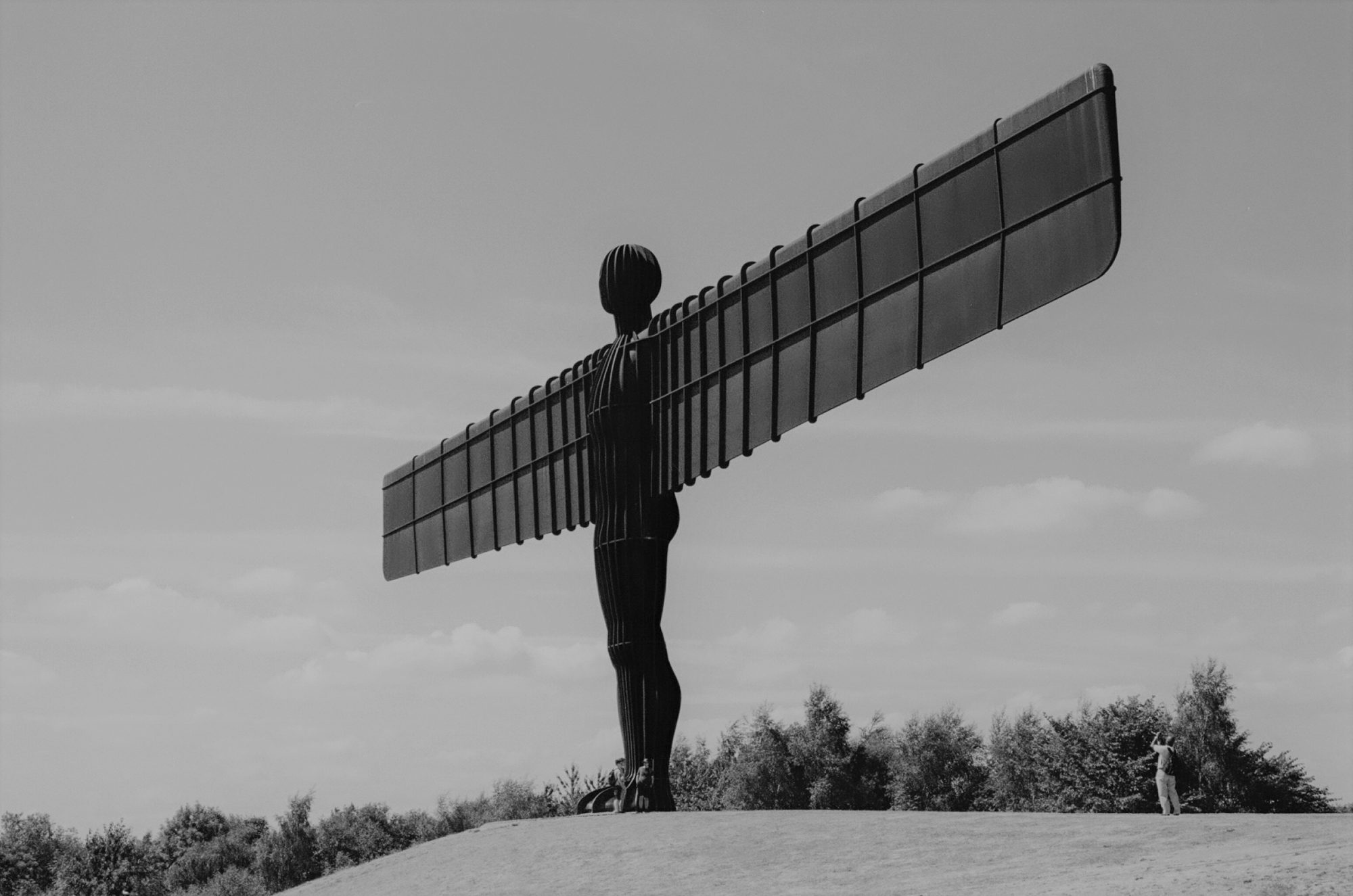 black and white angel of north