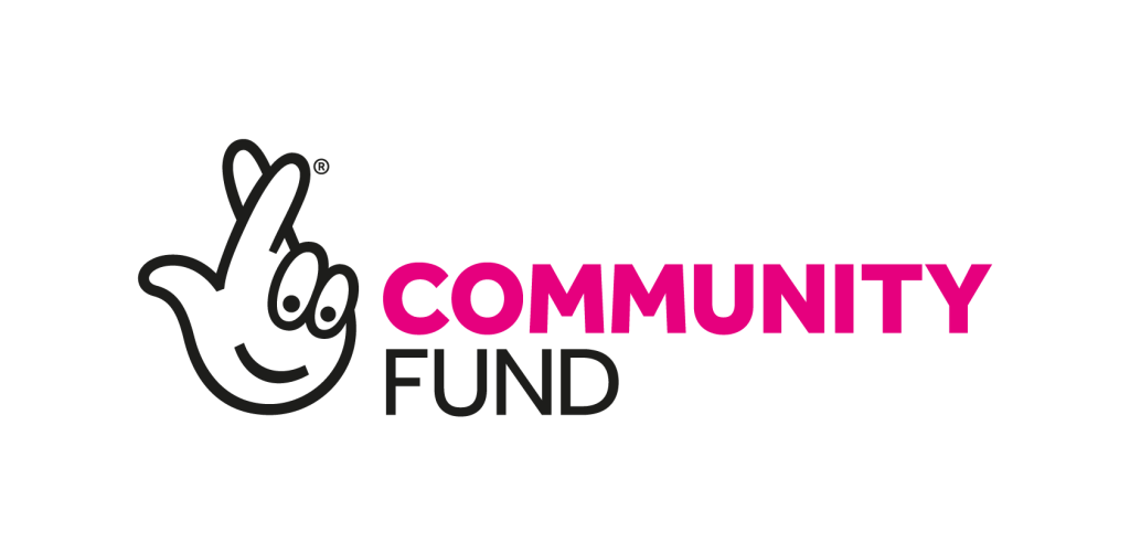 A cartoon image of a hand with it's fingers crossed. The words read 'Community Fund'.