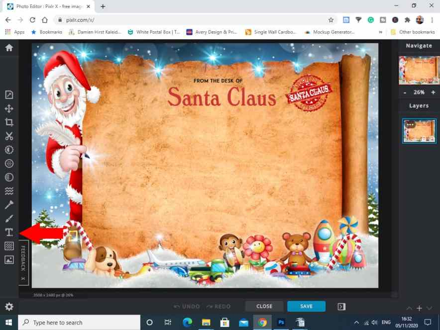 Background Image for the santa Letter